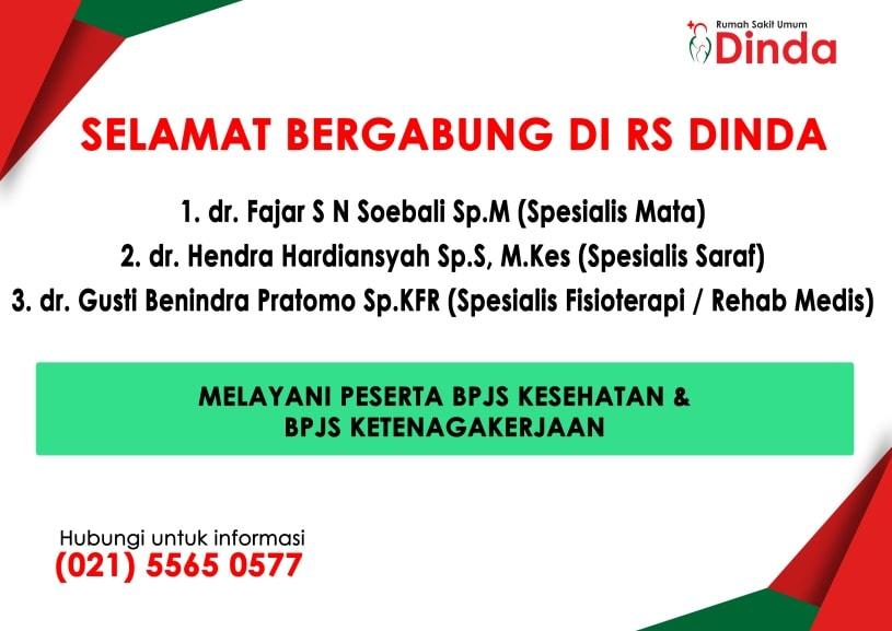 Layanan Dokter Spesialis Mata, Spesialis Saraf & Spesialis Rehab Medik