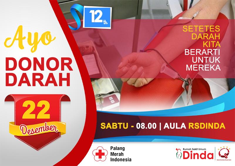 Donor Darah 12 Tahun Rumah Sakit Dinda