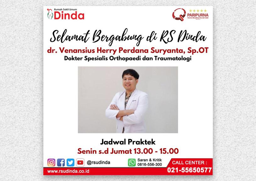 Selamat Bergabung dr. Venansius Herry Perdana Suryanta, Sp.OT