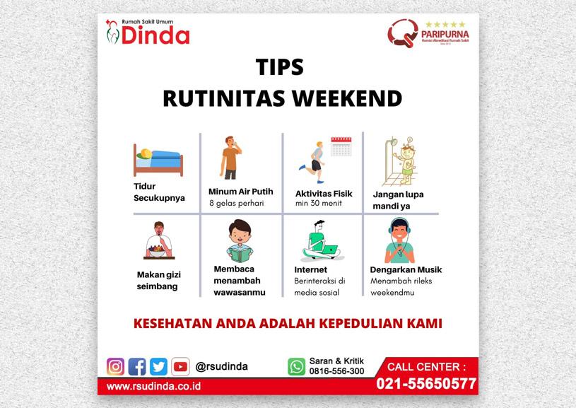 TIPS RUTINITAS WEEKEND