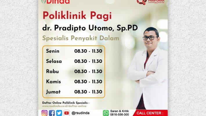 Selamat Bergabung dr. Pradipto Utomo, Sp.PD