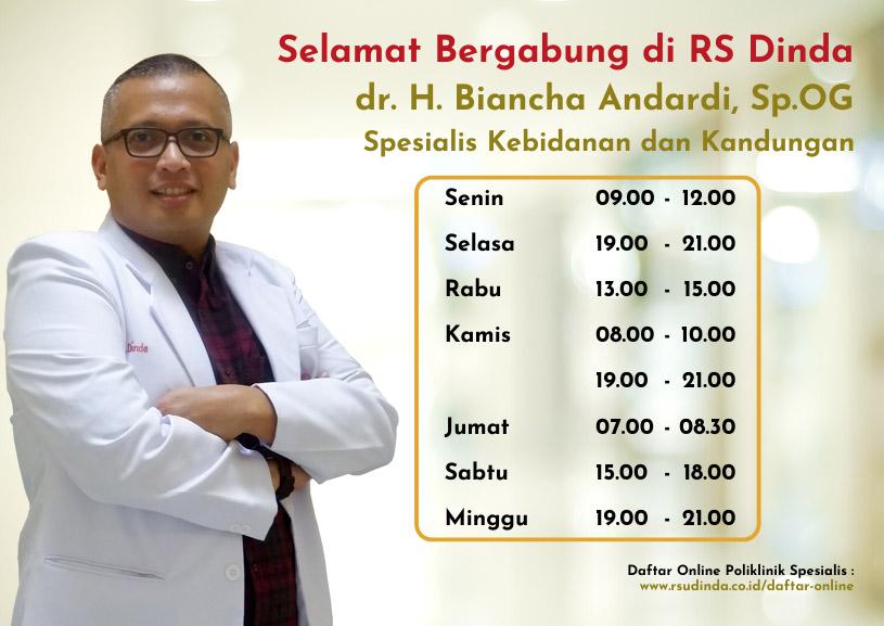 Selamat Bergabung dr. H. Biancha Andardi, Sp.OG