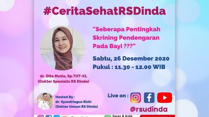 Cerita Sehat RS Dinda Bersama dr. Dita Mutia, Sp.THT-KL
