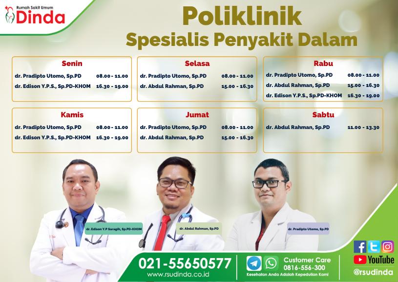 Poliklinik Spesialis Penyakit Dalam Rumah Sakit Dinda