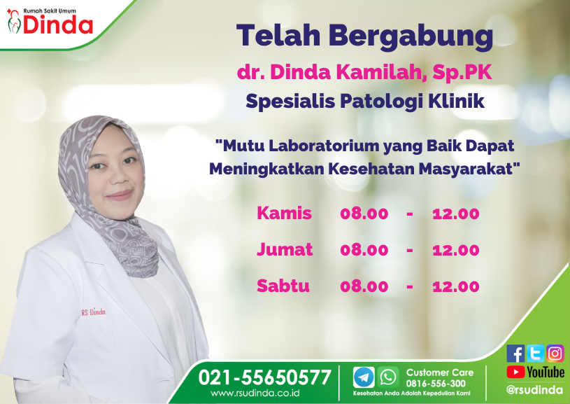 Telah Bergabung dr. Dinda Kamilah, Sp.PK