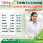 Telah Bergabung dr. Carissa Lidia, Sp.A, MHKes