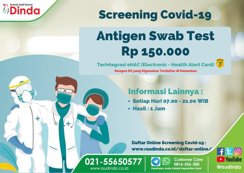Antigen Swab Test RS Dinda 2021