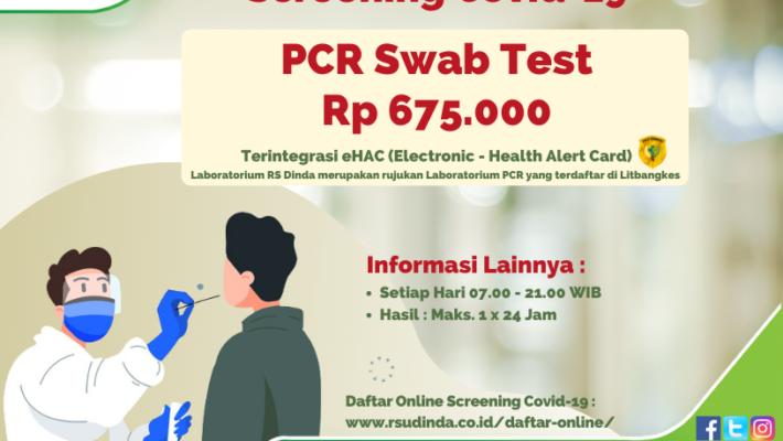 PCR Swab Test RS Dinda 2021