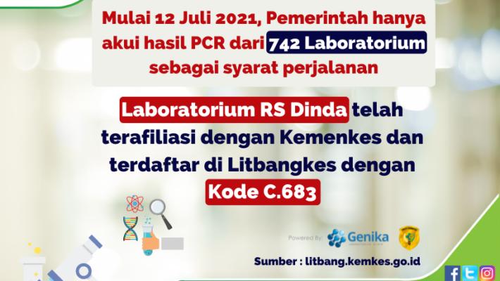 Laboratorium RS Dinda Terafiliasi Dengan Kemenkes