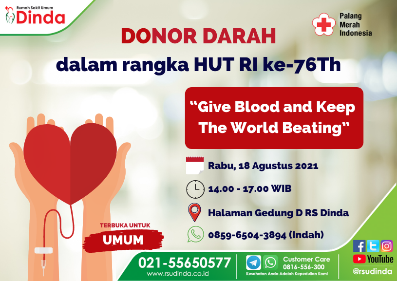 Donor Darah Spesial HUT RI ke-76Th