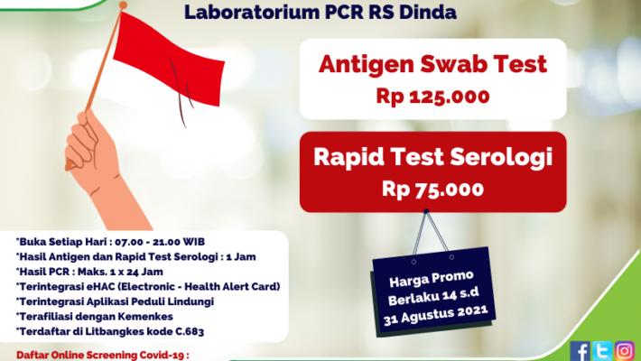Promo Kemerdekaan Laboratorium PCR RS Dinda